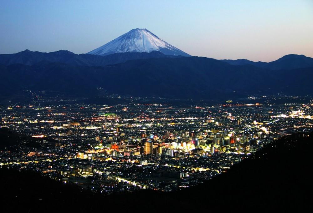 白山の夜景